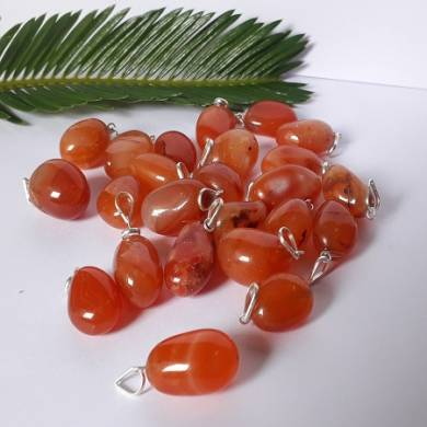 Red Carnelian Tumble Stone Pendants and Necklaces