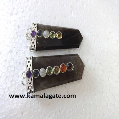Chakra Labrodolite Flats Pendents
