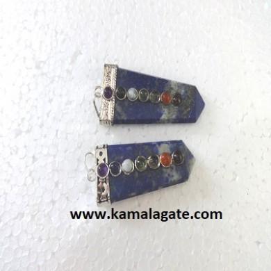 Chakra Lapiz Lazuli Flats Pendents