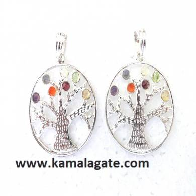 Chakra Metal Tree Of Life Pendents