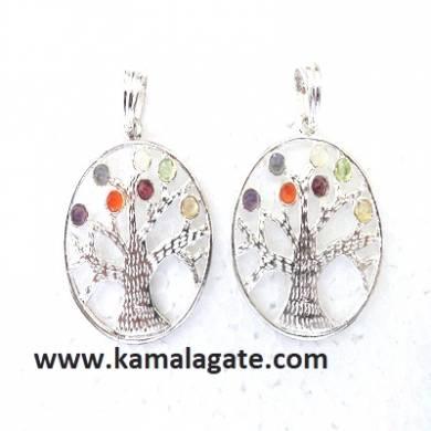 Chakra Metal Tree Of Life Pendents