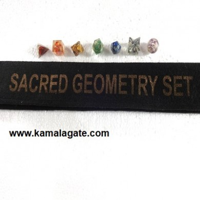 Chakra Orgone Geometry Sets with Valvet Pouch