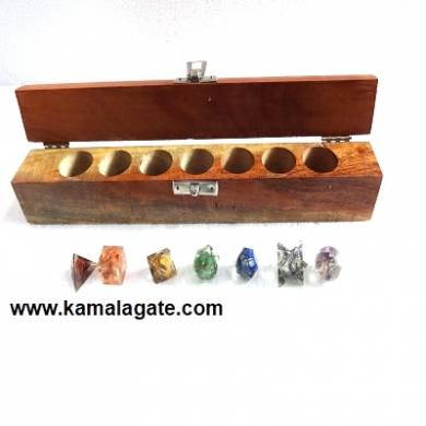 Chakra Orgone Geometry Sets with Wooden Box
