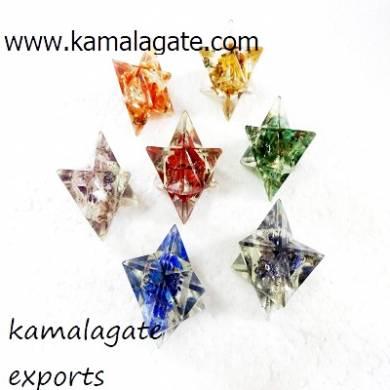 Seven Chakra Orgone Merkaba Star Set Chakra Set Wholesale