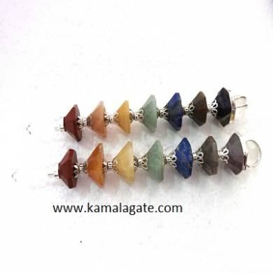 Chakra Conical Pyramid Healing Wands