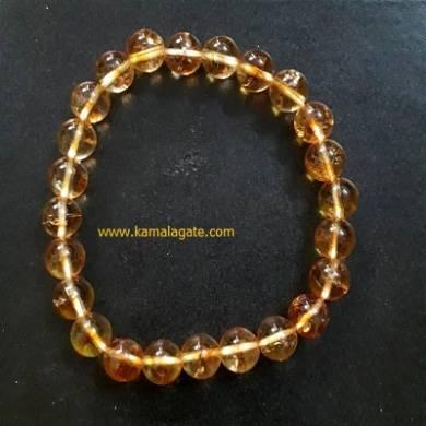 Citrine 8mm Beads Bracelets