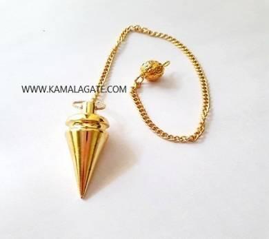 Golden Brass Metal Cone Shape Pendulum