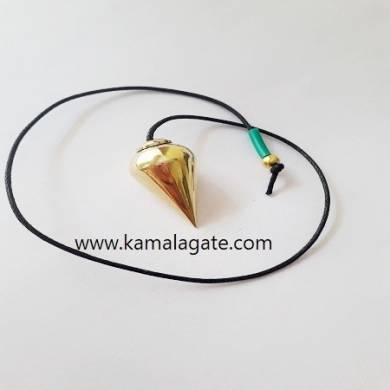 Metal Golden Brass Drop Shape Cone Pendulum