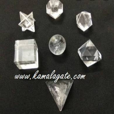 Crystal Quartz  7pcs Geometry set