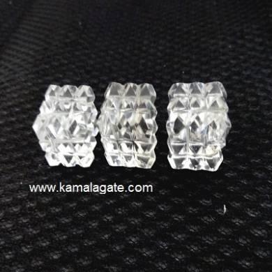 Crystal Quartz Cube Pyramid