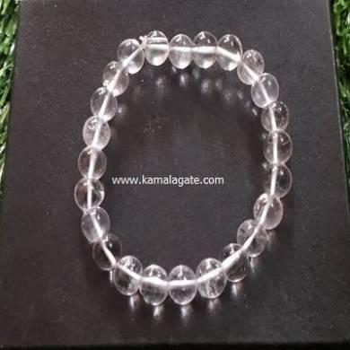 Crystal Quartz 8mm Beads Bracelet