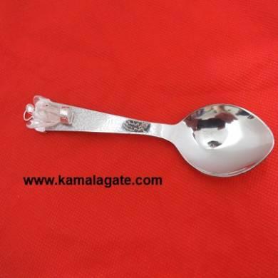 Crystal Quartz Angel With Spoon