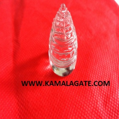 Crystal Quartz Faceted ShreeYantra