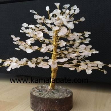 Crystal Quartz Gemstone Tree with Metal Root