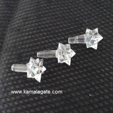 Crystal Quartz Merkaba Angel Stick