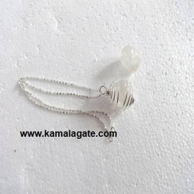 Crystal Quartz Spiral Necklaces