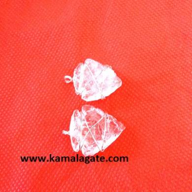 Crystal Quartz Wire Wrap Arrowheads Pendents