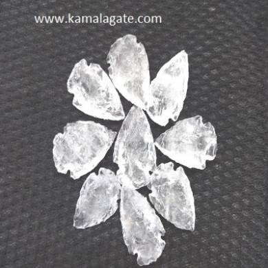 Crystal Quartz Gemstone  Arrowheads 1 inch