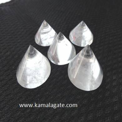 Crystal Quartz Conical Pyramid