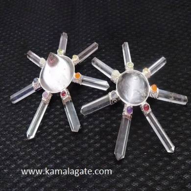 Crystal Quartz Energy Generators With Chakra Cabs