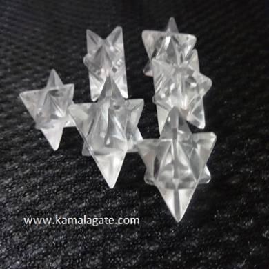 Crystal Quartz Merkaba Stars