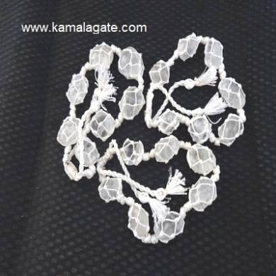 Crystal Quartz Tumble Stone Bracelets