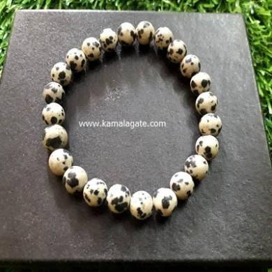 Dalmantion Jasper 8mm Beads Bracelet