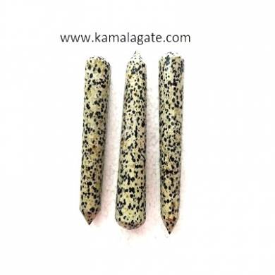 Dalmation jasper Faceted Massage Wands