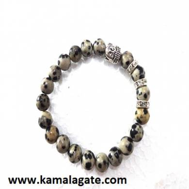 Dalmation Jasper Bhuddha Bracelet