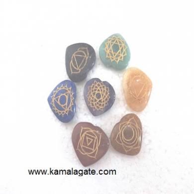 Engraved Chakra Pub HeartzSets