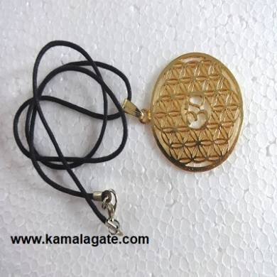 Flower of Life Golden Pendents