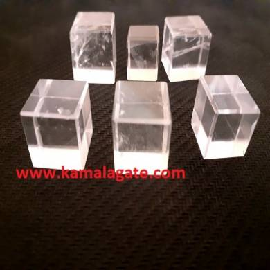 Crystal Quartz Gemstone Blocks & Cubes