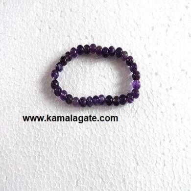 Gemstone Elastic Amethyst Bracelets