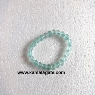 Gemstone Elastic Aquamarine Bracelets