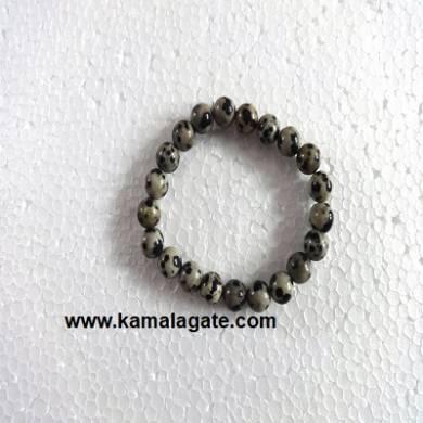 Gemstone Elastic Dalmation Jasper Bracelets