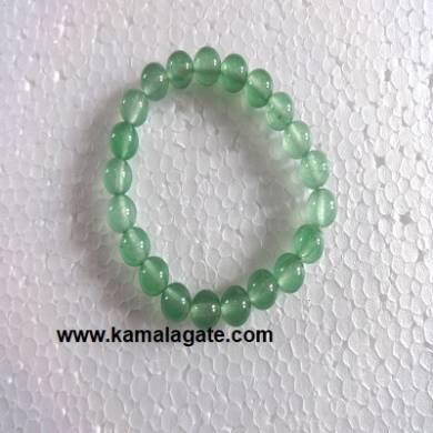 Gemstone Elastic Green Onxy Bracelets