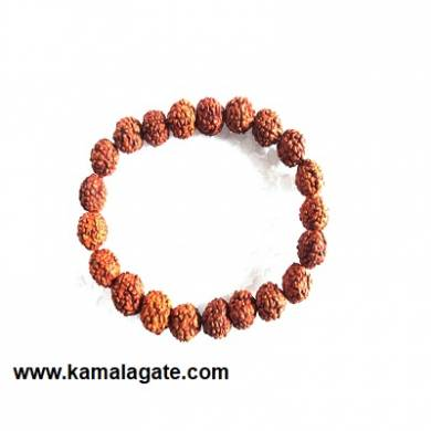 Gemstone Elastic Rudhraskh Bracelets