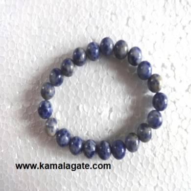 Gemstone Elastic Sodalte Bracelets
