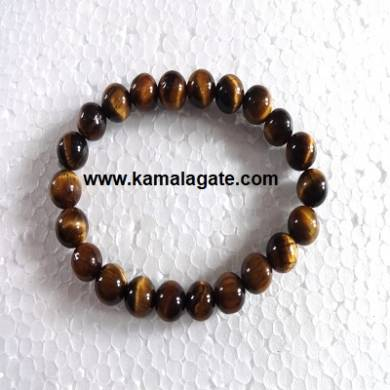 Gemstone Elastic Tiger Eye Bracelets