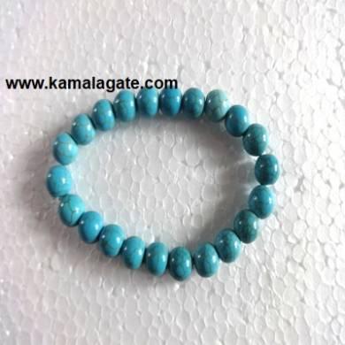 Gemstone Elastic Turquoise Bracelets