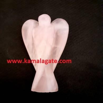 Rose Quartz 3 inch angels