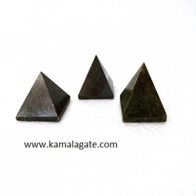 Grass Jasper Small Pyramid