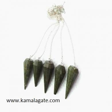 Grass Jasper Faceted Pendulums