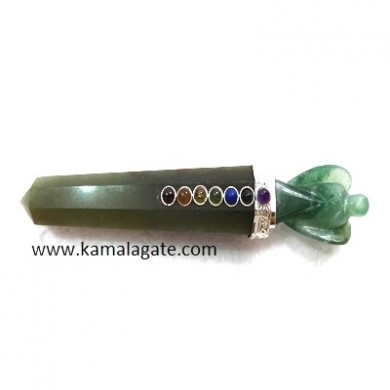 Green Aventurine Angel Healing Wands