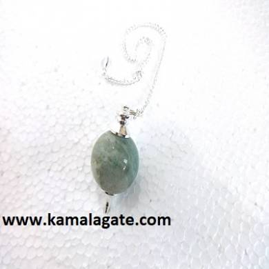 Green Aventurine Ball Pendulum (Silver)