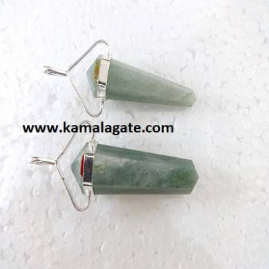 Green Aventurine Double Point Pencil Pendent