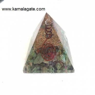 Green Aventurine Orgone Pyramid With Quartz Point [Big]