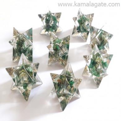 Green Aventurine Orgone Star