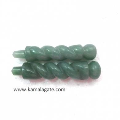 Green Aventurine Twisted Healings Wands