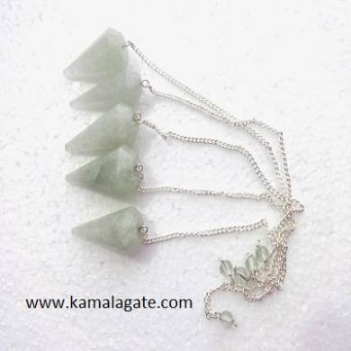 Green Quartz Faceted Pendulums